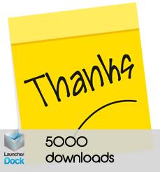 Launcherdock Hits 5000 downloads