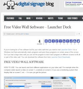 Launcher Dock on Digital Signage Blog