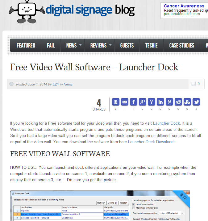 Featured on the Digital Signage Blog